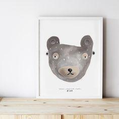 Image of ART PRINT | FEARLESS BEAR MASK