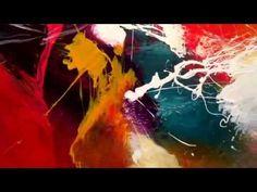 Huge 96x48' living abstract painting by Dan Bunea | info@danbunea.ro - YouTube