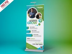 Free PSD : Business Promotion Roll-up Banner Template by PSD Freebies