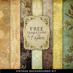 Freebies Vintage Backgrounds Kit