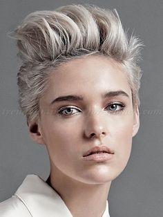 Für Frauen, die ihre Stärke zeigen möchten! 10 Kurzhaarfrisuren mit Tolle ... - Neue Frisur