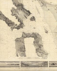 37.7166° N, 122.2830° W, Alexander Dallas Bache, Entrance to San Francisco Bay California, 1859. (Courtesy of the David Rumsey Map Collection )