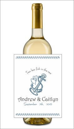 Beautiful nautical-themed wine/beer labels for your wedding!