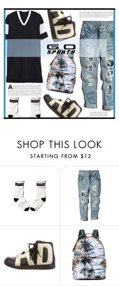 """""""Go Sporty!"""" by dolly-valkyrie ❤ liked on Polyvore featuring Abercrombie & Fitch, adidas, Valentino and sportystyle"""