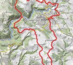 BERGFEX-Rund um Gramastetten - Wanderung - Tour Oberösterreich Map, Ruins, Road Trip Destinations, Tours, Alps, Hiking, Location Map, Maps