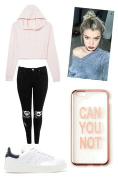 """""""Untitled #91"""" by ambrosequeen ❤ liked on Polyvore featuring Boohoo, adidas Originals and Missguided"""
