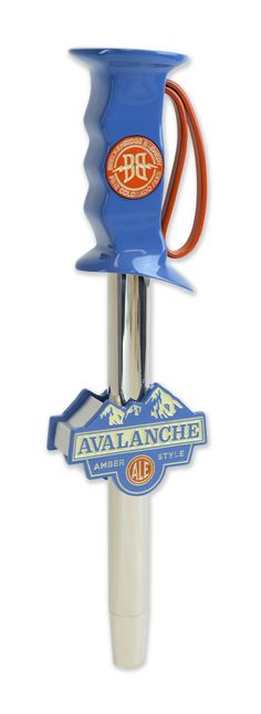 Breckenridge Brewing custom tap handle made from metal and resin