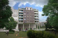 Infografía 3D de bloque de viviendas en Pontevedra Multi Story Building, Design Projects, Windows, Study