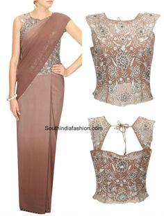 corset blouse with sarees lehengas 455x600 photo