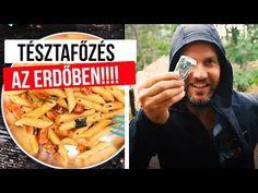 Kolbászos-szalonnás paradicsomos tészta főzés az erdőben • Fördős Zé Magazin