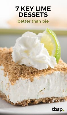 Key lime is tangy citrus perfection and these desserts are everything minus the pie. From key lime cheesecake cupcakes to easy key lime bars, these are guaranteed crowd-pleasers.