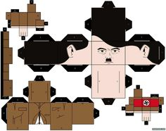 Blog Paper Toy papertoy Hitler template preview Papertoys Hitler & Staline