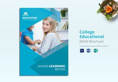 The stunning College Educational Brochure Template Throughout Brochure Design Templates For Education images below, is part of Brochure Design Templates … College Brochure, School Brochure, Travel Brochure Design, Travel Brochure Template, Brochure Templates Free Download, Free Brochure, Education College, Elementary Schools, Sign Up Sheets
