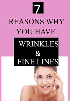 Aside from the natural aging process, other factors can cause wrinkles and lines to appear on the skin. It is important to know what they are.
