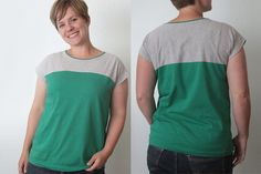 the easy tee {the colorblocked version} // free pattern by it's always autumn