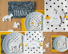 DIY Clay Animal Place Cards