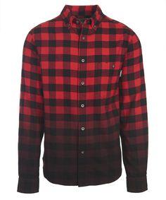 Men's Trout Run Dip Dye Flannel Shirt
