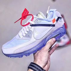 Virgil Abloh s Off-White x Nike Air Max 90 Ice 10X AA7293-100 Off 02573dcbe