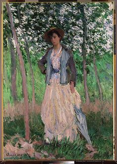 Claude Monet -The Stroller (Suzanne Hoschedé, later Mrs. Theodore Earl Butler, 1868–1899)