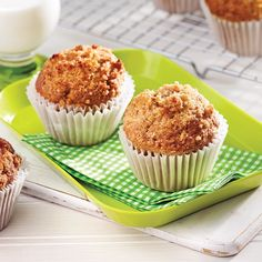 How to Bake Muffins Muffin Recipes, Apple Recipes, Cupcake Recipes, Sweet Recipes, Peanut Butter Muffins, Healthy Peanut Butter, No Bake Desserts, Delicious Desserts, Muffin Bread