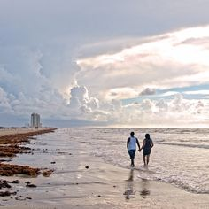 Many couples choose to have beachfront weddings on Galveston Island! Texas