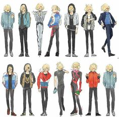 The many outfits of Yuri Plisetsky Creds to the artist
