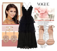 """""""Untitled #146"""" by ivana-j ❤ liked on Polyvore featuring self-portrait, Stuart Weitzman, Ted Baker, Accessorize and Carolee"""