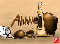 Snail doodle by ~GNAHZ on deviantART