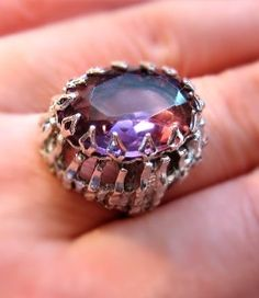 Sarah Coventry Amethyst Glass Ring