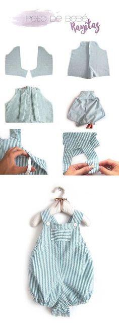4 tutoriales de ropa de bebé de verano DIY- Peto de bebé