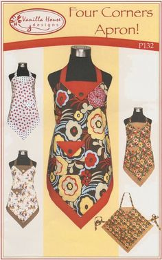 4 Corner Apron Pattern Free | this square or 4 corner apron is quick to make and perfect for the ...