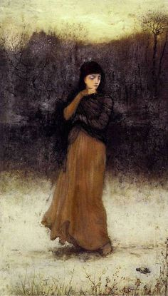 A Wintry Contemplation - George Henry Boughton 1872