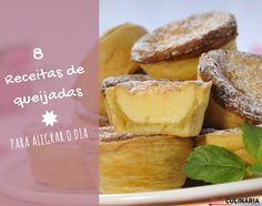 8 receitas de queijadas Mini Desserts, Camembert Cheese, French Toast, Food And Drink, Breakfast, Brazilian Recipes, Portuguese, Cakes, Cook