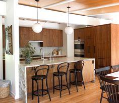 Midcentury Ranch Kitchen   Fireclay Tile Ranch Kitchen, New Kitchen, Kitchen Decor, Kitchen Ideas, Cute Home Decor, Cheap Home Decor, Pollo Tropical, Mid Century Ranch, Ranch Remodel