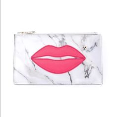 ✨2X HP✨🆕 Charlotte Olympia Pouty Appliqué Clutch! NIB-New In Box - Charlotte Olympia Pouty Appliqué Marbled Clutch. Leather, with gold interior & gold hardware. Retail $465 & sold out. 🚫Trades🚫             ✨✨Please view all photos & note the measurements as this is not large✨✨ Charlotte Olympia Bags Clutches & Wristlets