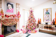 """There is more to a fabulous tree than putting a star on top and calling it done. Hit the floral department at the craft store and go crazy. I'm from Texas and you know that saying """"the higher the hair the closer to God?"""" I kinda make it my mantra with Christmas tree toppers."""