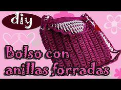 Como hacer una bolsa con fichas de aluminio: Bolso Fernanda parte 1 - YouTube