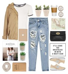 """""""Untitled #1877"""" by tacoxcat ❤ liked on Polyvore featuring Boohoo, Topshop, New Balance, Alöe, Mulberry and Phase Eight"""