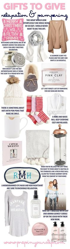 Gift Guide for Relaxation & Pampering 2016 #forher #Christmas #wintertime