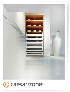 Caesarstone Floor, countertop, cabinet covers