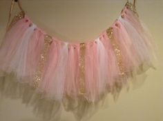Gold pink Winter onederland High chair tutu 1st by All4TheNibs