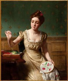 Seymour Joseph Guy (1824-1910) ~ Seymour Joseph Guy, was an American romance painter.He was born and trained in London but moved to New York City where he is known for genre works.