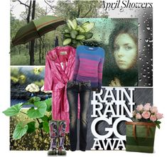 """""""April Showers"""" by lacas ❤ liked on Polyvore"""