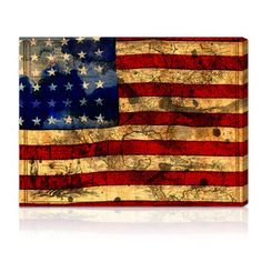 @Overstock - Oliver Gal Artist Co. 'The Flag' Gallery-wrapped Canvas Art - Artist: Oliver Gal Artist Co.Title: The FlagProduct type: Canvas Art  http://www.overstock.com/Home-Garden/Oliver-Gal-Artist-Co.-The-Flag-Gallery-wrapped-Canvas-Art/7724098/product.html?CID=214117 $73.79
