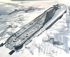 ArtStation - Submarine Aircraft Carrier concept, donald yatomi
