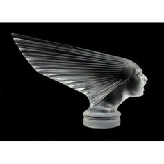 Antique Bohemian Art Deco Glass Car Mascot VICTOIRE Design H.Hoffmann