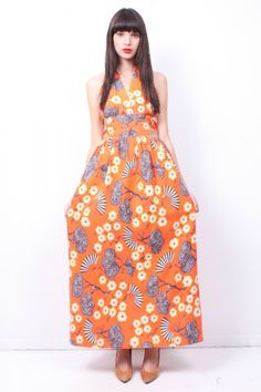 Asian Print Halter Maxi from Ramona West