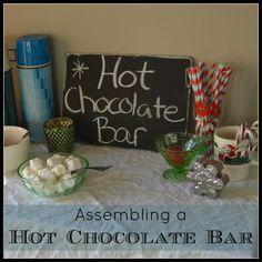Assembling a Hot Chocolate Bar  - Pinned by A Bird and a Bean