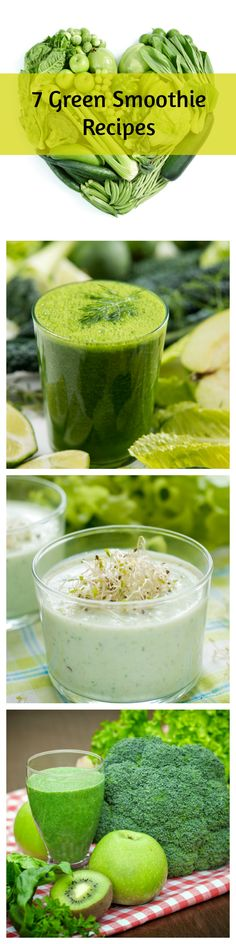 Seven Super Healthy Green Smoothie Recipes.  These smoothie recipes are great for weight loss! #smoothies #nutribullet #recipes