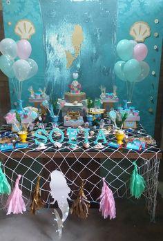 Combo convite + decoração + personalizado Sereia
